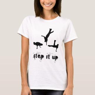 Etapa ele camisa ascendente da dança