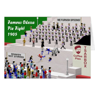 Etapas de Odessa Cartão Comemorativo