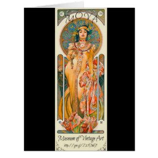 Etiqueta 1894 de Mucha Cartão Comemorativo Grande