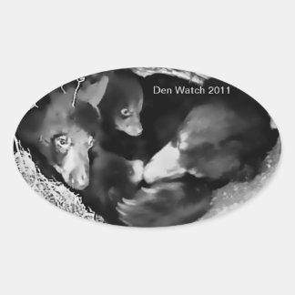 Etiqueta 2011 do relógio do antro adesivo oval