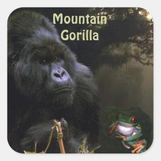 Etiqueta africana dos animais selvagens do gorila