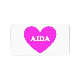 Etiqueta Aida