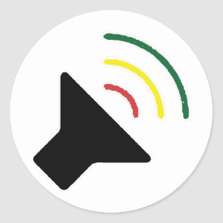 Etiqueta alta da reggae adesivo