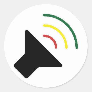 Etiqueta alta da reggae adesivos redondos