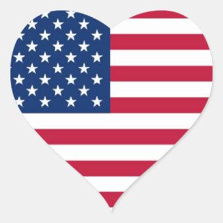 Etiqueta americana do coração adesivo coração