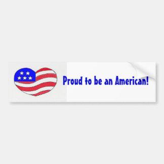 Etiqueta americana do Orgulho-Pára-choque Adesivo Para Carro