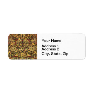 Etiqueta Arte floral da tapeçaria de William Morris