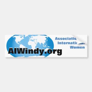 Etiqueta-Associação abundante de mulheres internac Adesivo Para Carro