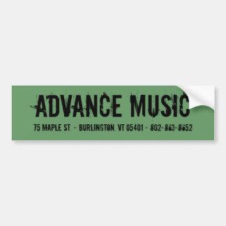 Etiqueta avançada da música adesivo para carro