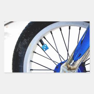Etiqueta azul da roda