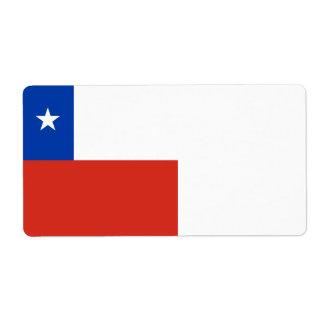 Etiqueta Bandeira do Chile