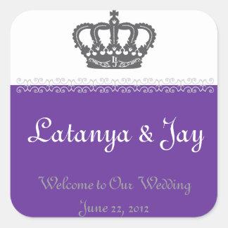 Etiqueta bem-vinda Wedding do saco Adesivo Quadrado