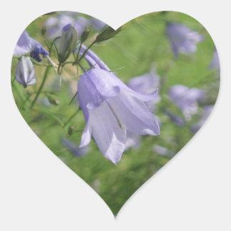 Etiqueta bonito do coração da foto da flor do adesivo coração