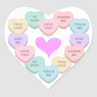 Etiqueta bonito do coração do amor para