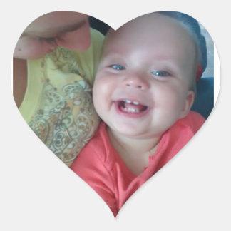 etiqueta bonito do coração do bebê adesivo coração