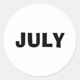 Etiqueta branca de improviso de julho por Janz