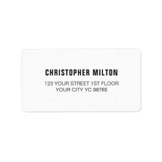 Etiqueta branca elegante clássica minimalista