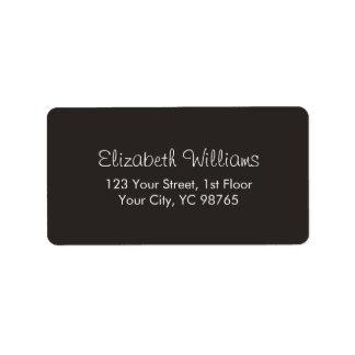 Etiqueta branca elegante clássica minimalista do etiqueta de endereço