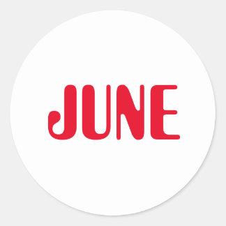 Etiqueta branca vermelha de junho Amelia por Janz