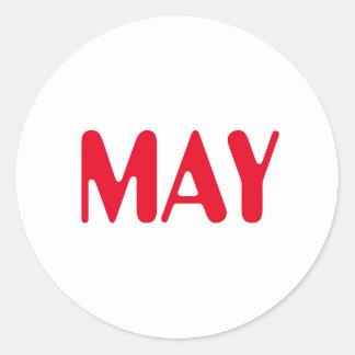 Etiqueta branca vermelha de maio Amelia por Janz