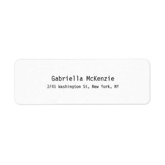 Etiqueta Branco liso simples elegante moderno especial