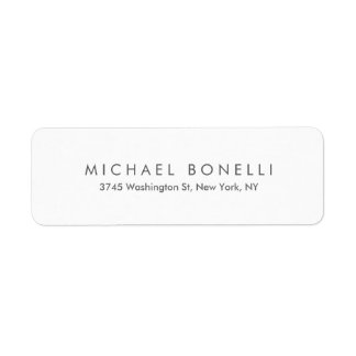 Etiqueta Branco moderno elegante minimalista liso simples