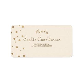Etiqueta Casamento de Champagne do amor dos confetes do