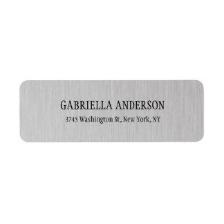 Etiqueta Cinza de prata moderno simples criativo na moda