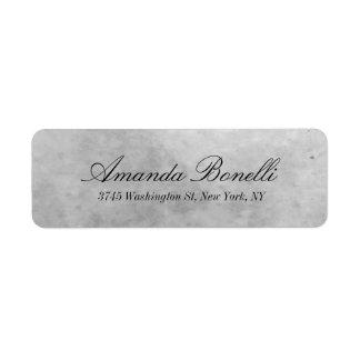 Etiqueta Cinza moderno elegante simples da escrita criativa