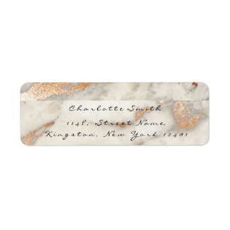 Etiqueta Cinzas de cobre de mármore RSVP do preto do rosa
