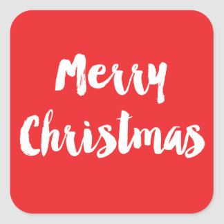 Etiqueta clássica do Natal Adesivo Quadrado