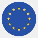 Etiqueta com a bandeira da União Europeia Adesivo Em Formato Redondo