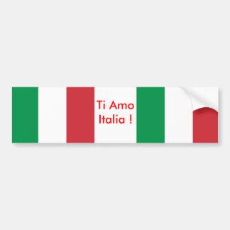 Etiqueta com a bandeira de Italia Adesivo Para Carro