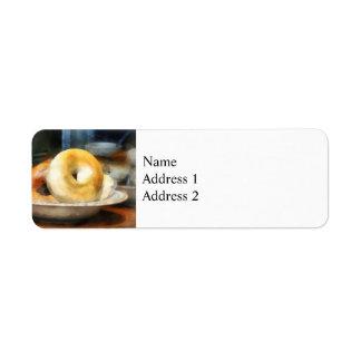 Etiqueta Comida - Bagels para a venda