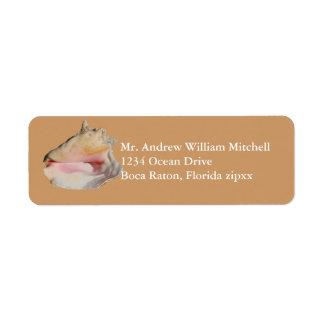 Etiqueta Conch Shell de Tan