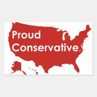 Etiqueta conservadora orgulhosa