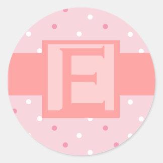Etiqueta cor-de-rosa do convite do casamento do adesivo