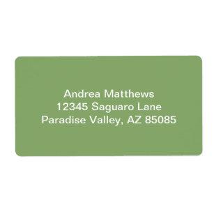 Produtos para escritrio cor verde aspargo zazzle etiqueta cor slida escura do aspargo reheart Image collections
