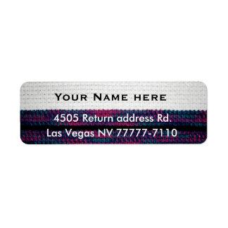 Etiqueta Crochet-olhar do endereço do remetente