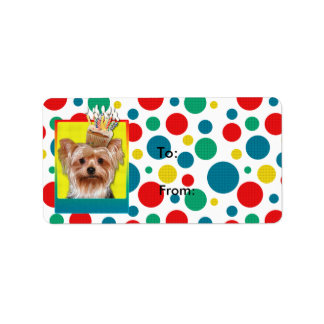 Etiqueta Cupcake do convite - yorkshire terrier