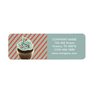 Etiqueta cupcake feminino da padaria da restauração do bolo