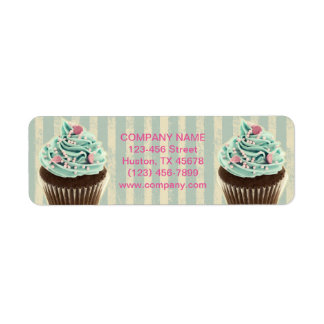 Etiqueta cupcake moderno da sobremesa da padaria da cerceta