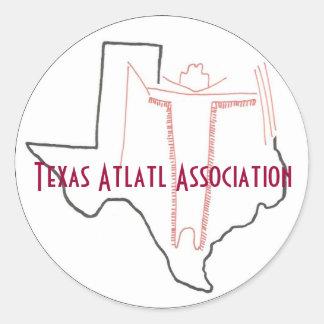 Etiqueta da associação de Texas Atlatl Adesivo