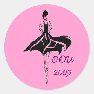 Etiqueta da associação ODU da forma Adesivo