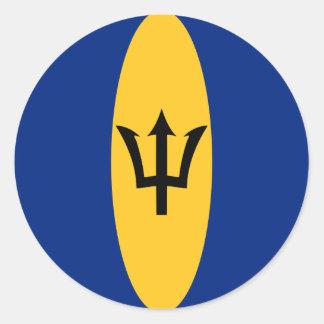 Etiqueta da bandeira de Barbados Fisheye