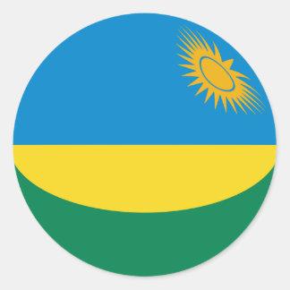 Etiqueta da bandeira de Rwanda Fisheye