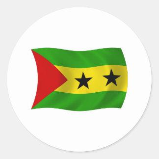 Etiqueta da bandeira de Sao Tome and Principe