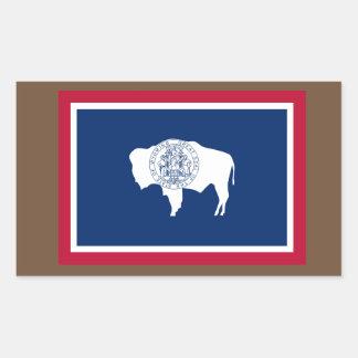 Etiqueta da bandeira de Wyoming