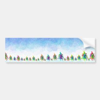 Etiqueta da beira da árvore de Natal Adesivo Para Carro