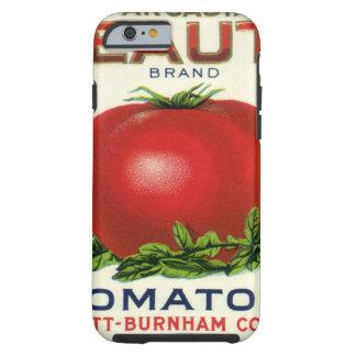 Etiqueta da caixa da fruta do vintage, tomates da capa tough para iPhone 6